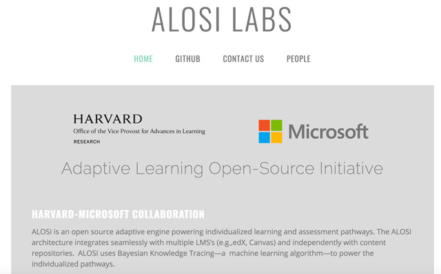 Harvard and Microsoft Test Adaptive Learning for the Open