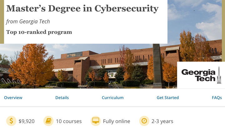 Insights on Georgia Tech's Master's Degree in Cybersecurity on edX
