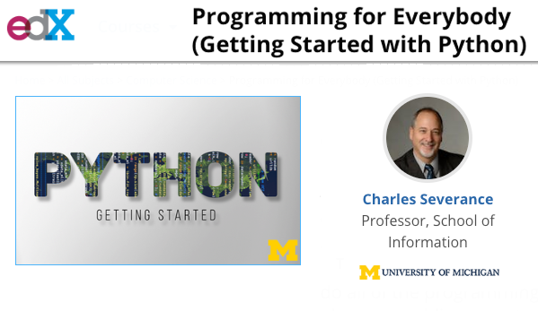 Dr  Chuck's MOOC on Python Is Now Also on edX org | IBL News
