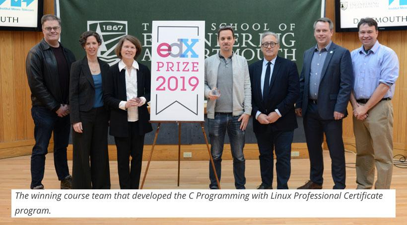Dos profesores de Dartmouth e IMT de Francia premiados por su curso 'Programación en C con Linux'