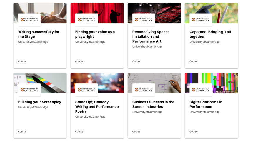 La Universidad de Cambridge ofrece ocho cursos gratuitos sobre artes creativas en edX