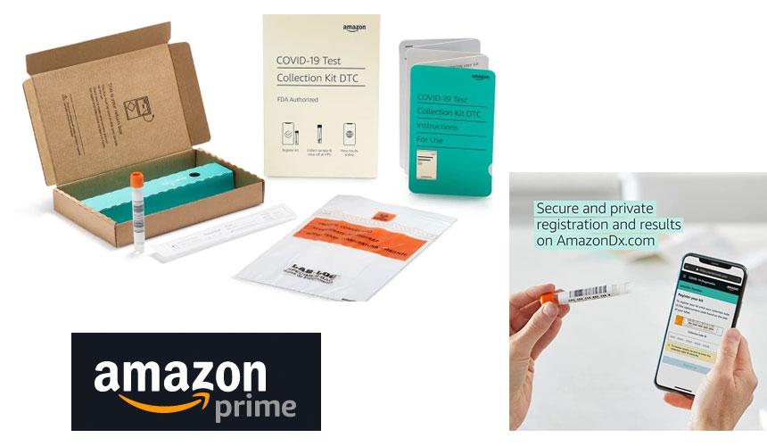 Amazon comienza a vender kits de prueba COVID por $ 39.99 en su sitio web